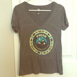 Phish ladies v-neck shirt 2012 Denver, CO